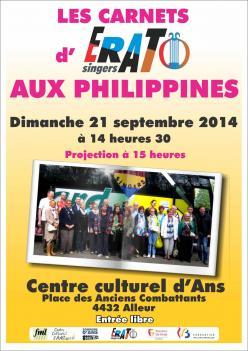 Les carnets d'Erato Singers aux Philippines 21-09-2014