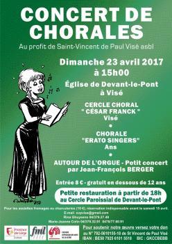 Affiche chorale de Devant-le-Pont 23-4-2017