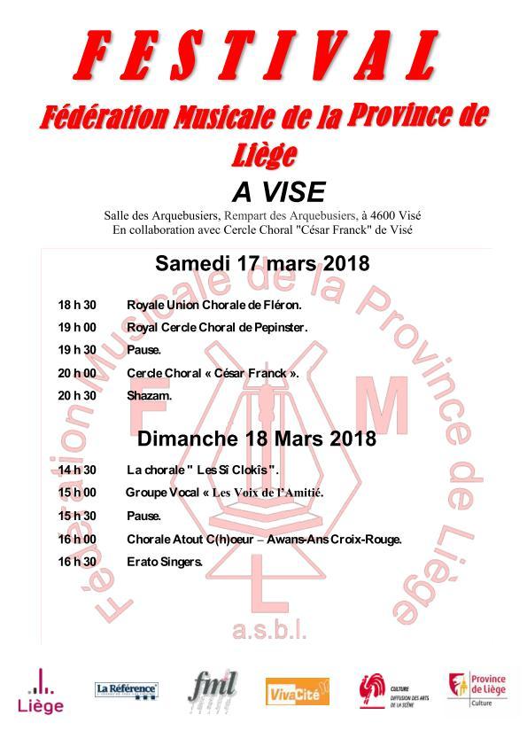 Concert FML 17 et 18 mars 2018 à Visé