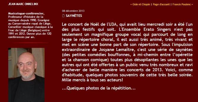 Critique concert