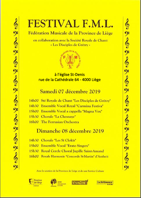 Affiche concert de Noël FML 2019